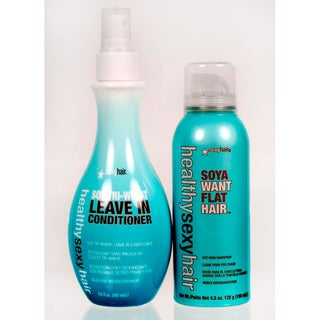 Sexy Hair Healthy Sexy Hair Soy Tri-Wheat Leave-in Conditioner and Flat Iron Spray Gift Set