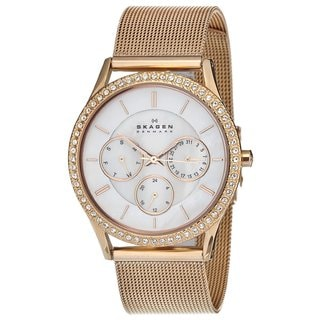 Skagen Women's Rose-goldtone Steel Mesh Watch