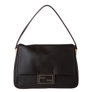 Fendi 'Forever' Black Big Mamma Shoulder Handbag