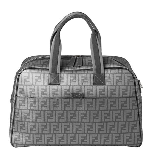 Fendi Silver Zucca Duffle Handbag