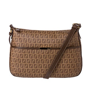 Fendi Zucchino Coated Canvas Shoulder Bag
