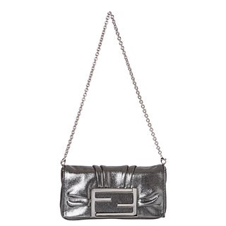 Fendi Metallic Silver Handbag