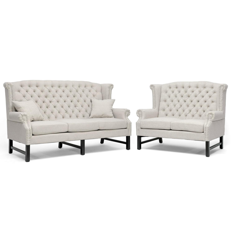 Sussex Beige Linen Sofa Set 1500 x 1500