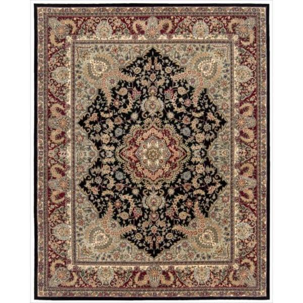 Nourison Hand-tufted Nourison 2000 Tabriz Black Rug (9'9 x 13'9)