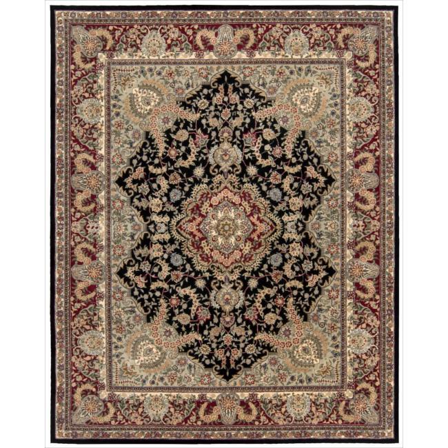 Nourison 2000 Hand-tufted Tabriz Black Rug (8'6 x 11'6)