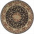 Nourison 2000 Hand-Tufted Tabriz Black Area Rug (8' x 8') Round