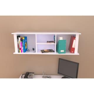 Inval White Wall Mount Hutch Bookcase