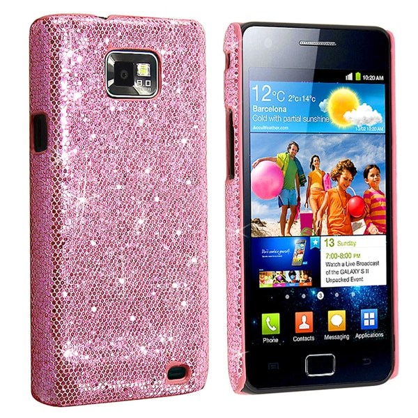 INSTEN Hot Pink Snap-on Phone Case Cover for Samsung Galaxy S II/ S2 i9100