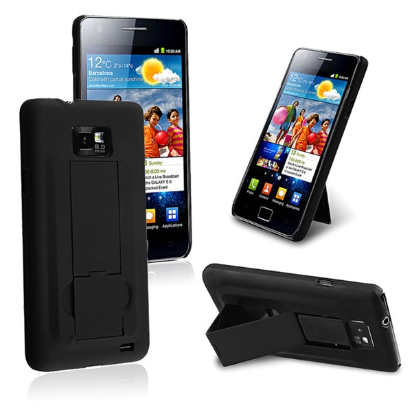 BasAcc Rubber Coated Case with Stand for Samsung© Galaxy S2 i9100