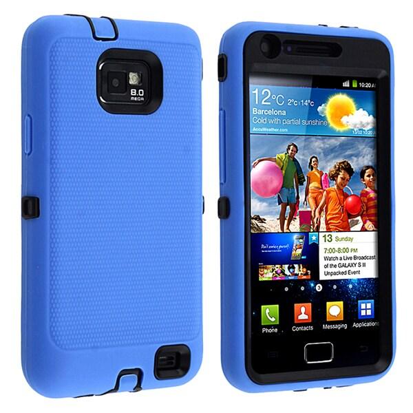 BasAcc Black/ Blue Hybrid Case for Samsung© Galaxy S II/ S2 i9100