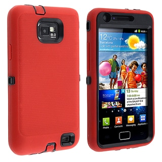 BasAcc Black/ Red Hybrid Case for Samsung� Galaxy S II/ S2 i9100