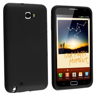 BasAcc Black Silicone Skin Case for Samsung� Galaxy Note N7000