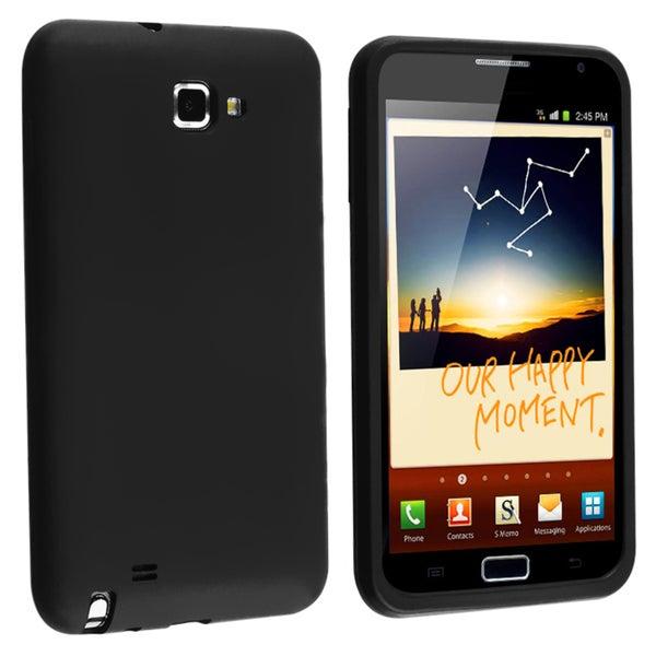 BasAcc Black Silicone Skin Case for Samsung© Galaxy Note N7000