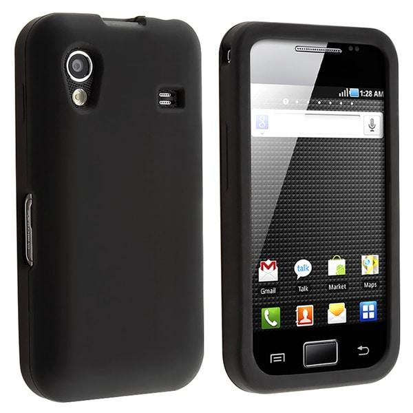 INSTEN Black Soft Silicone Protective Skin Phone Case Cover for Samsung Galaxy Mini S5570