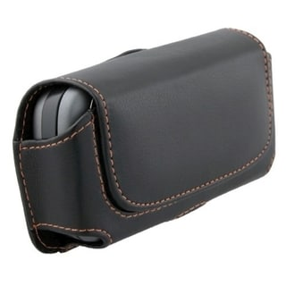 BasAcc Large Rugged Leather Case with Magnetic Flap
