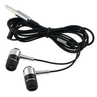 BasAcc Black/ Silver 3.5-mm In-Ear Stereo Headset with On-off Switch