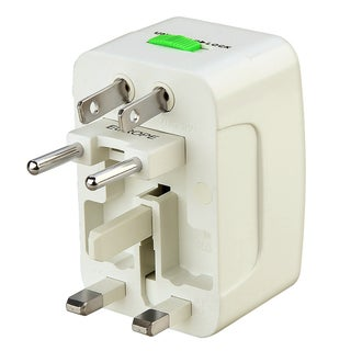 BasAcc White World Wide Travel Charger Adapter Plug