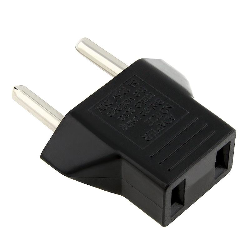 INSTEN Black US to EU Plug Adapter