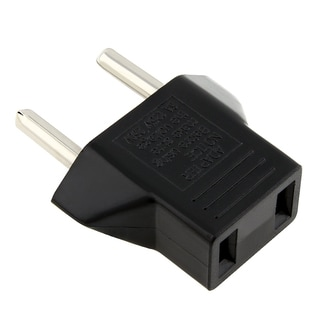 BasAcc Black US to EU Plug Adapter
