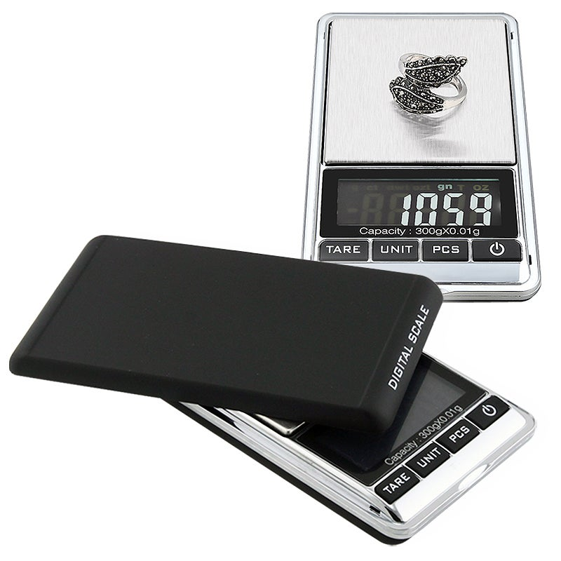BasAcc Black/ Silver 10.5-oz Digital Pocket Scale