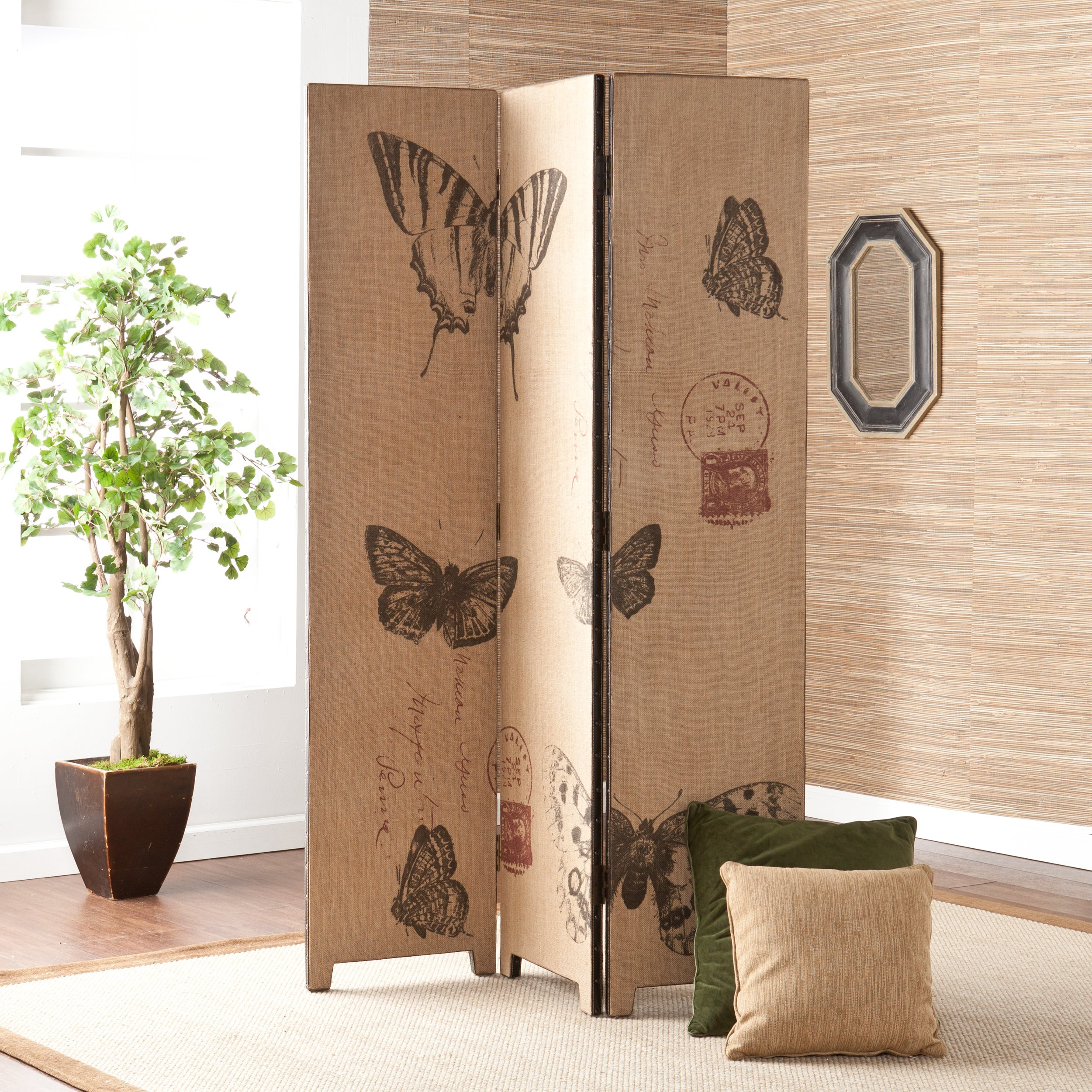 Room divider decorative screens overstock shopping the best prices online - Decorative partitions room divider ...