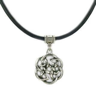 Celtic Knot Greek Leather Necklace