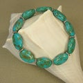 Jewelry by Dawn Oval Turquoise Magnesite Stretch Bracelet