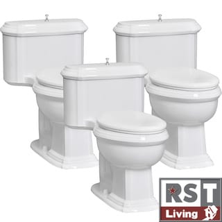 RST Living Vanier One-Piece White Toilet Contractor Set by Icera (Set of 3)