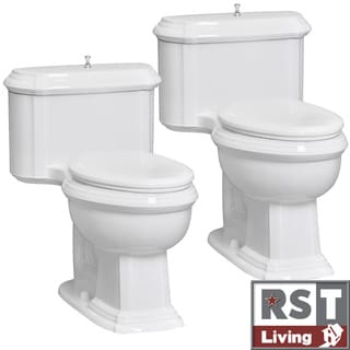 RST Living Vanier One-Piece White Toilet Designer Set by Icera (Set of 2)