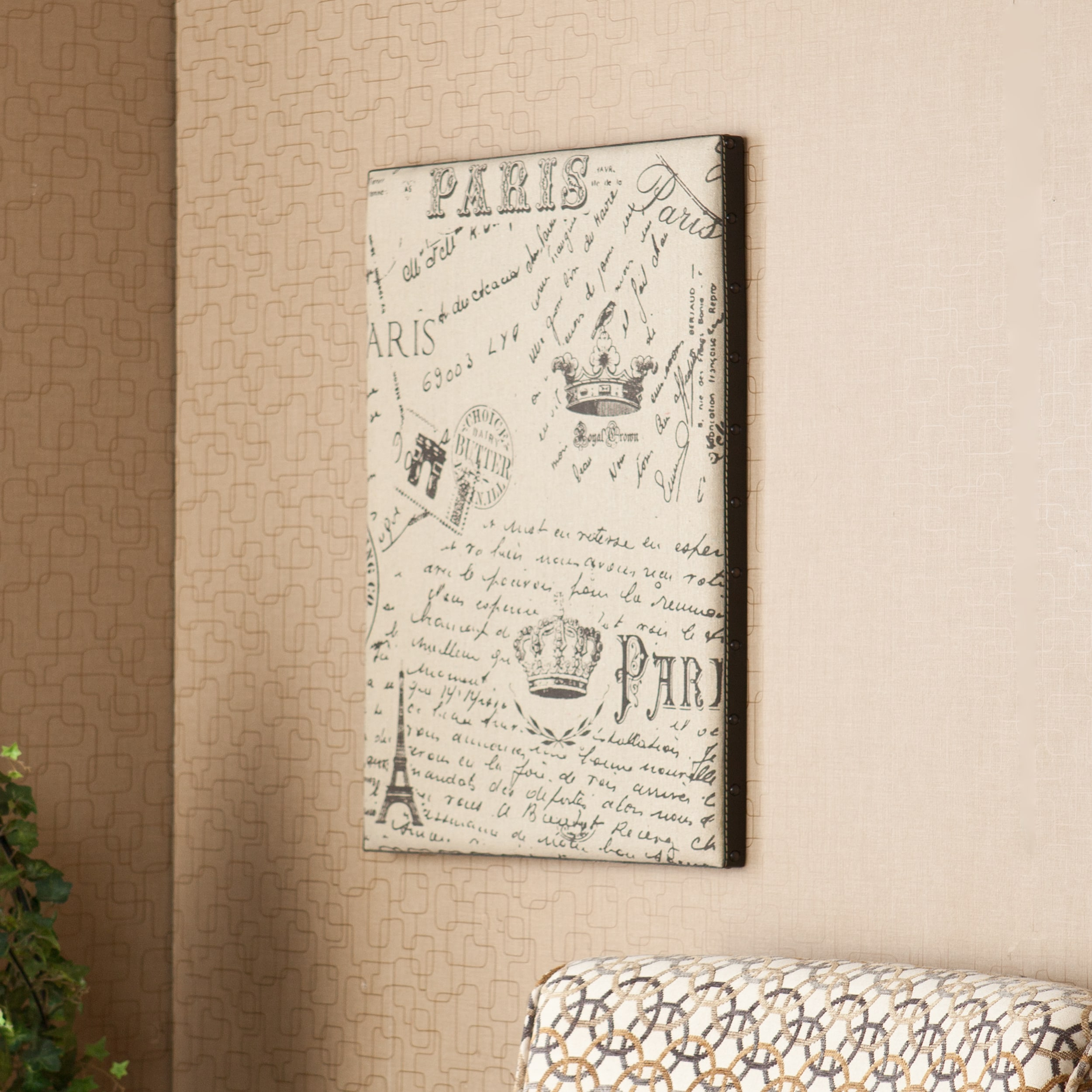 Upton Home Annabel Vintage Burlap Message Board