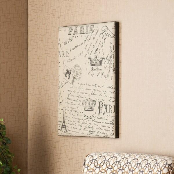 Upton Home Annabel Vintage Burlap Message Board