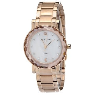 Skagen Women's Rose-gold Steel Link Bracelet Watch