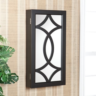 Upton Home Charlot Wall Mount Jewelry Mirror Armoire