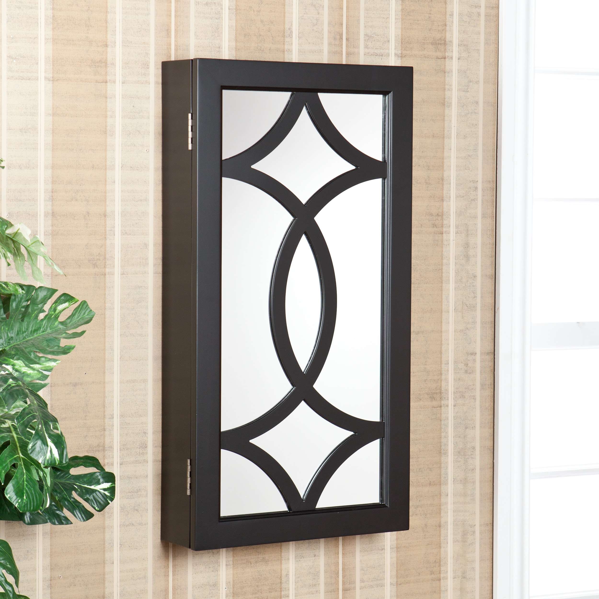 Upton Home Sorrell Wall Mount Jewelry Mirror Armoire