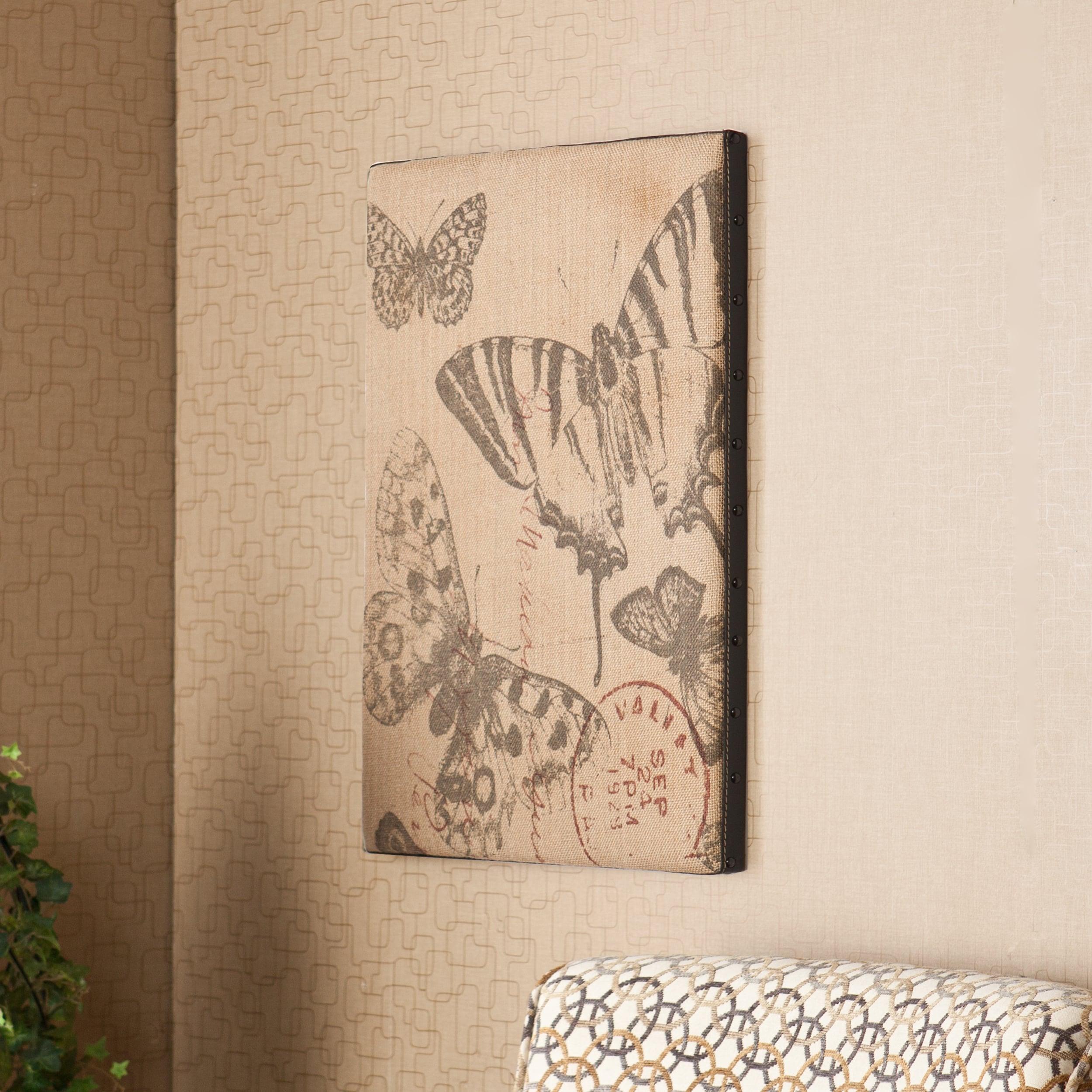Upton Home Amalia Vintage Burlap Message Board