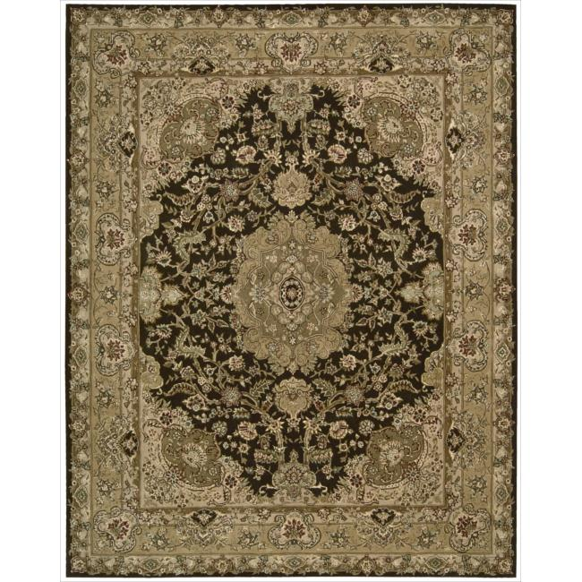 Nourison 2000 Hand-tufted Tabirz Chocolate Rug (9'9 x 13'9)