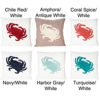Crusty Crab Towel Stitch Pillow