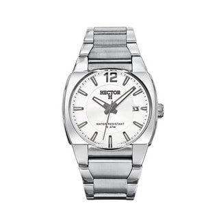 Hector H France Men's Classic Silver-tone Dial Stainless Steel Date Watch