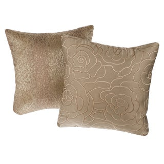 Bronze Reversible Square Decorative Pillows (Set of 2)
