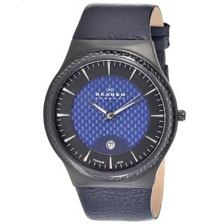 Skagen Men's Titanium Case Blue Strap Watch