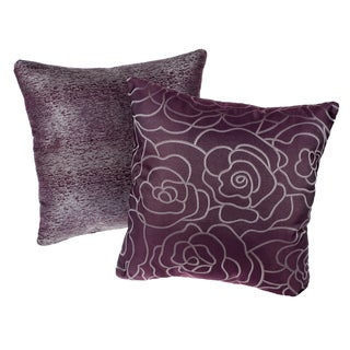 Amethyst Reversible Square Decorative Pillows (Set of 2)