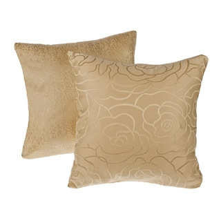 Gold Reversible Square Decorative Pillows (Set of 2)