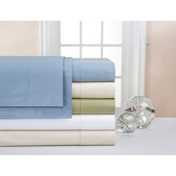 Pointehaven Supima Cotton 600 Thread Count Deep Pocket Sheet Set or Pillowcase Separates