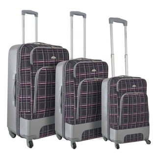 Dejuno Mobility 3-piece Expandable Spinner Luggage Set