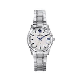 Certus Paris Women's Stainless Steel Silver-tone Dial Date Watch