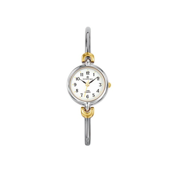 Certus Paris Women's Brass and Steel White Dial Watch
