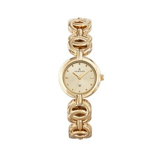 Certus Paris Women's Brass Goldtone Dial Watch