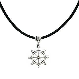 Jewelry by Dawn Ships Wheel Greek Leather Necklace