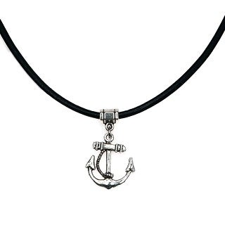 Jewelry by Dawn Anchor Greek Leather Necklace