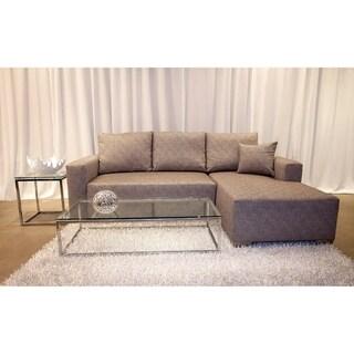 Decenni Custom Furniture 'Romeo' Reaction Mineral Modern Compact Sectional Sofa
